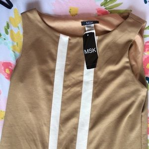 NWT MSK | Tan and White Dress Size 6